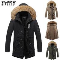 Men's wool leather jacket 2021 Winter Long Parka Jassen Warm Fat Casual Bontkraag Fleece Winddicht Hooded Jackets 1022