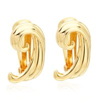 VAROLE Angel Wings Clip-on Screw Back Earrings For Women Gold Color Without Piercing Earring Fashion Jewelry Party Boucle Oreille Femme