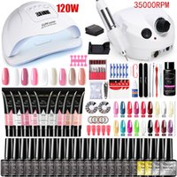 Manicure UV Lamp nail drying and Electric Drill Polish 15ml Quick Building Gel Extension Polygels Nail Set