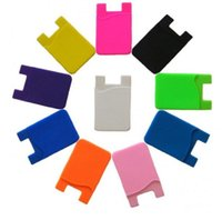 Phone Card Holder Silicone Cell Phone Wallet Case Credit ID Pocket Stick On 3M Adhesive 1