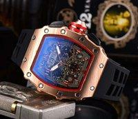 2021 Stile del tempo libero Richard Brand New Sei Series Tutti i quadranti Lavorano Luxury Fashion Sport Watch RM Orologi al quarzo da uomo RM cinturino in silicone