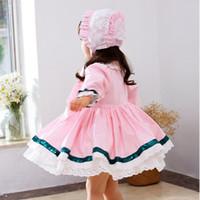 Девушка платья 2021 TUTU осень детская одежда девочка платье с длинным рукавом кружева хлопка в стиле стиль для детей принцесса бальное платье