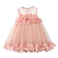 Flower Girl Dresses Baby Designer Vestiti Bambini Principessa Dress Vestire Girls Moda Skirt Gonna Costume Bambini Abbigliamento XZT076