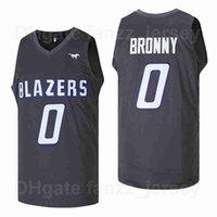 Männer Film High School # 0 Bronny James Jersey Sierra Canyon Blazer Team Farbe Schwarz Away atmungsaktiv Hiphop für Sport Fans Reine Baumwolle Ausgezeichnete Qualität zum Verkauf