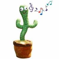 Kaktus Plüschspielzeug Elektronische Erschütterung Tanzen Spielzeug mit Song Nette Tanzkaktus Frühe Kindheit Bildungsraum Dekoration heiß