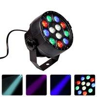 LED Party Lights 12X1W Flat Floors Par RGBW Lyre Wash DMX DJ Uplight Sound Activated Disco Effect For Wedding Dance Floor