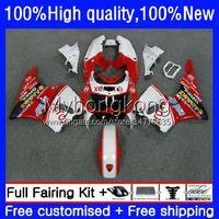Bodys Kit för Honda White Red BR 893RR 900RR 893 900 CC 89 90 91 92 93 karosseri 36NO.70 CBR900RR CBR893RR 1989 1990 1991 1992 1993 CBR900 CBR893 RR 89-93 OEM FAIRING