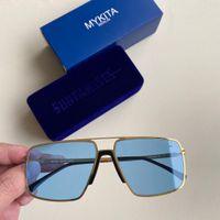 Nuevo 2021 Mykita Lotus Sun Top Sport Sport Gafas de sol Mujeres Brand Designer Sunglasses Hombres Alemania Marca Vacaciones Mykita Mylon Gafas de sol