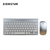 Zienstar Russo Slim 2.4G Wireless Keyboard Mouse Combo para MacBook Laptop Caixa de TV PC inteligente com receptor USB 210610