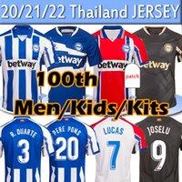 جديد Deportivo ALAVES R. Sobrino 100th Centernery Soccer Jerseys 2020 2021 ALAVES Sobrino Guidetti Jersey Men Kids Kits Football Shirts