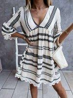 Elbiseler 2021 Yaz Dantel Manşet Elbise Seksi Elbise Kadınlar Sınırlı Zamanında İndirim Bluz Tomurcuk İpek Sapanlar Çiçek Büyük Yards