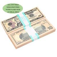 فيلم الدعامة البنكنوت 100 دولار لعبة عملة حزب وهمية ورقة المال الأطفال هدية 50 دولار تذكرة