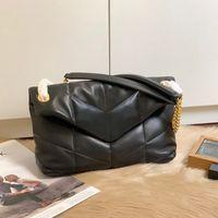 Designer handtaschen frauen louou kette tasche top qualität quadrat crossbody tasche weiche echtes leder geldbörse falt flappe umhängetasche