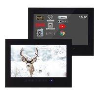 SOLLACA 15,6 дюймов умный водонепроницаемый черный телевизор Andriod 10.0 Bluetooth LED настенный экран настенного монтажа анти вода ЖК-дисплей T156FS-B