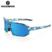 ROCKBROS Polarized Cycling Eyewear Bicycle Glasses Unique Printing Men Women MTB Road Bike SunGlasses Sports Goggle