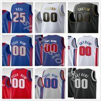Özel Baskılı Detroit Blake 23 Griffin Derrick 25 Rose Jerami 9 Grant Killian 7 Hayes Saddiq Bey Erkekler Kadın Çocuklar Basketbol Formaları
