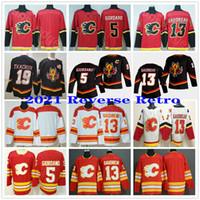 2021 Reverse Retro Calgary Flames Breaks Classic Jerseys 5 Mark Giordano 13 Johnny Gaudreau Sean Monahan 19 Matteo TKachuk Hockey Jerseys