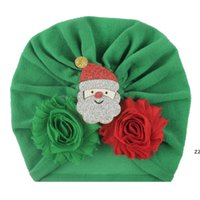 Noel Çocuk Şapka Pamuk Bezi Bebek Kap Çocuk Düğüm Türban Toddler Yumuşak Kafa Wrap Hindistan Tarzı Bebekler Düğüm Bantlar Fotoğraflar OWD11136