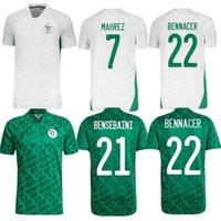 2021 2 estrelas Cup Africana Argélia Futebol Jerseys Home Afccon Mahrez Feghouli Brahimi Bouncerjah Bouzza Algerie Jersay Football Shirts