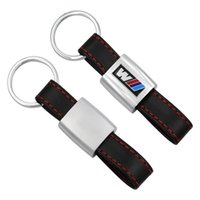 Fashion Leather Metal Car Logo key ring keyring keychain key chain Car Styling Universal for BMW auto M 1 3 5 X6 X1 X3 X5 E3 E5 Z4