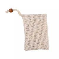 القشرة الطبيعية شبكة الصابون التوقف سيزال فرش حقيبة الحقيبة حامل للاستحمام الحمام رغوة والتجفيف