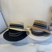 잔디 브레이드 럭스 디자이너 태양 모자 여성 배럴 패션 캐주얼 남성