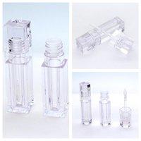 Boş Dudak Parlatıcısı Tüpleri 5.5 ml Kare Altıgen Şekil Temizle Dudak Balsamı Tüpler Konteyner Ruj Doldurulabilir Şişeler Dudak Parlatıcısı Tüpü Organize