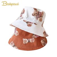 Caps & Hats Cartoon Kids Bucket Hat For Boys Girls Adjustable Baby Beach Accessories Children Cap 2-5Y