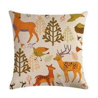 Yastık Kılıfı Güzel Elk ve Orman Atmak Yastıklar Kapak Kanepe Araba Yastık Kapak Ev Dekoratif Yastık için