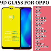 FOR OPPO A12S A12 A15S A32 A33 A53 A53S A73 A93 2020 5G F17 PRO FIND X3 LITE K7X 9D FULL COVER TEMPERED GLASS SCREEN PROTECTOR