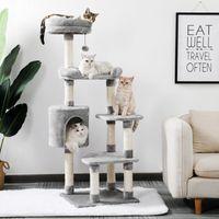 2021 برج شجرة القط الجديد متعدد المستويات هريرة منزل مع طراز دمية دمية كوندو S و SiSal أطقم المخاطر NQDV