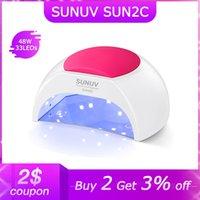 Sunuv Sun2c UV Tırnak Lambası 48 W Akıllı Sensör Manikür Için LED Işık Kurutucu Kür Jel Lehçe Vernik Makinesi
