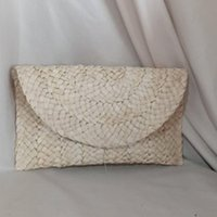 Wallets 2021 Women Straw Knitted Wallet Bohemian Rattan Purses Hand Bag For Key Money Beach Long Holiday Vacation Party Clutch