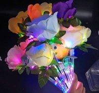 Светодиодные светодиодные фонари палочки розовый букет тикток искусственный цветок свадьба валентина день предложить вечеринку декор подарок фальшивые розы для влюбленных G61NHL0