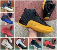 Top Quality Mens Sapatos de Basquete 12s Universidade Gold Gripe Gripe Reversa Jogo Royal Dark Concord Taxi Ovo Branco Retroes 12 Playoffs French Blue Sneakers Sports Trainers