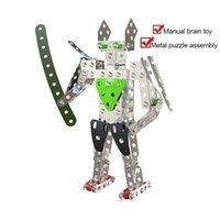 3D металлические материалы блоки кирпича DIY модель кирпичи здания робот детские образовательные игрушки