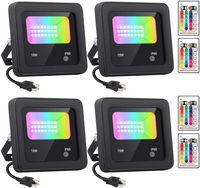 Açık RGB LED Sel Işık Spot 15 W 25 W 35 W AC85-265V Kısılabilir Reflektör Lamba Duvar Yıkama Sahne Işık Bahçe Peyzaj