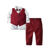 Clothing Sets Spring Autumn Formal Kids Gentleman Suit Long Sleeve Children Boys Boutique Wedding Party Baby Clothes