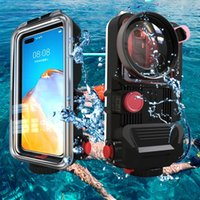 Professional Diving Housing Underwater 60m Waterproof Bluetooth Phone Case Universal for Iphone 12 pro 11 Xs max For Galaxy S21