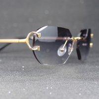 Elmas Kesim Güneş Gözlüğü Kadın ve Erkekler Carter Cam Dekorasyon Gafas Sol Luxe Tasarımcı Piccadilly Sürüş için Shades