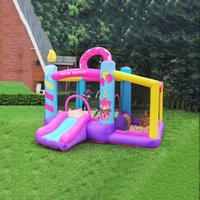 Garden Supplie Slide Bouncer Inflatable Jumper Bouncing House Jumping Castle Heavy Duty Backyard Kids Party Bouncy Houses with Ball Pool Air Blower