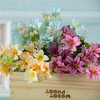 Decorative Flowers & Wreaths Wreath Wedding Multicolor Floral 18 Heads Artificial Flower Bouquets Fake Plant Faux Lilies