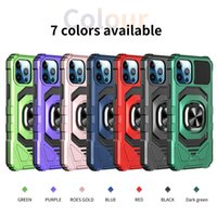 Cell Phone Cases Suitable For iphone 11 12 XS XR series Alliance armor military anti-fall TPU+PC pull ring bracket protective case