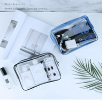 Storage Boxes & Bins PVC Transparent Makeup Bags Travel Toiletry Bag Clear Waterproof Beautician Cosmetic Pouch Wash Cases Home Organizer