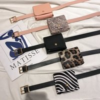 Women Girls Belts with Bags INS 5 Colors Waist Suspenders Leopard Designer PU Quality Needle Buckle Adults Accessories 3290 Q2