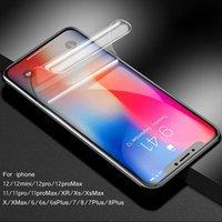 3D tam kapak hidrojel filmi iphone 7 için 8 artı SE2020 ekran koruyucu iphone 6 6 s artı 6 artı yumuşak tpu ekran görevlisi