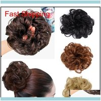Chignons Extensions Productspony Tail Extension Hairpiece Scrunchie Elastic Wave Curly Synthetic Hairpieces Wrap For Hair Bun Chignon Pedazo