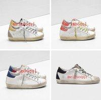 Italienische Marke Sneakers Classic White Distressed Dirty Shoes Designer Casual Shoe's Für Männer und Frauen mit 5-Punkte-Sterne G33MS590