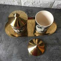 Holder Holder DIY DIY Hecho a mano S Jar Retro Lina Face Bin Ceramic CAFT Decoración para el hogar Jewerlly Caja de almacenamiento D1901170 OBZ7