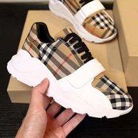Nuevo Top Top Sneaker Plaid Pattern Platform Classic Suede Cuero Deportes Skateboarding Shoes Hombres Mujeres Sneakers Shoe008 01